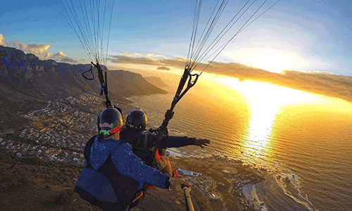 Parapax Tandem Paragliding Flights in Cape Town